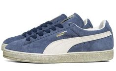 Puma Suede Vintage Distress Low - Dark Denim Blue // LOS CLASICOS DE LA VIDA
