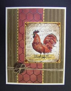 CC361 Rustic Rooster by hobbydujour - Cards and Paper Crafts at Splitcoaststampers