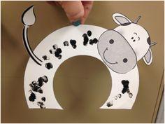 cow crafts for kids Alphabet Letter Crafts, Abc Crafts, Kids Crafts, Toddler Art, Toddler Crafts, Summer Crafts For Toddlers, Cow Craft, Farm Animal Crafts, Farm Animals