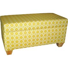 Colorful Ottoman (comes in a bunch of prints), $149 - LOVE this idea with a solid color couch!