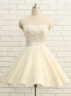 Cute O-Neck Homecoming Dresses,Short Prom Dresses,Cheap Homecoming Dresses on Luulla Cheap Short Prom Dresses, Lace Homecoming Dresses, Formal Dresses For Women, Dress Formal, Dress Prom, Dama Dresses, Cute Dresses, Confirmation Dresses, Tulle
