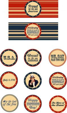 Fab Five Friday Free 'Americana' Printables Patriotic Crafts, Patriotic Party, Patriotic Decorations, July Crafts, Patriotic Images, 4th Of July Celebration, 4th Of July Party, Fourth Of July, Holiday Fun