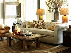 farmhouse living room from Pottery Barn