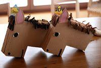k v . b a r n: cheerios box horses :)