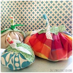 How to make autumn fabric pumpkins | DazzleWhileFrazzled.com