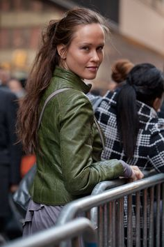green leather jacket - really really want one