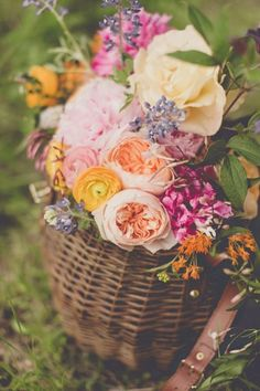 On the journey, gather flowers and carry them in something befitting your journey.