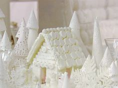 Sugar cube and marshmallow house house......reminds me of 4th grade--building California missions for school!