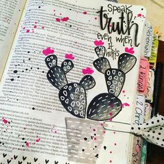 Bible Journaling by Christina Lowery Scripture Lettering, Bible Verse Art, Faith Bible, Hand Lettering, Beautiful Word Bible, Illustrated Faith, Journal Inspiration, Book Art, Bible Journal