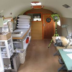 After - the rear end of the Airstream