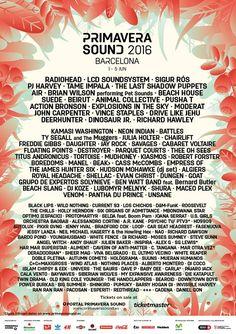 Canal Electro Rock News: Festival espanhol Primavera Sound anuncia line-up da sua edição de 2016