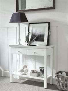 Neptune Aldwych Small Console Table in Snow