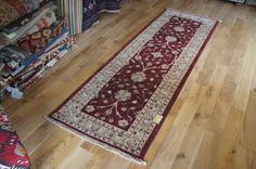 Hand Knotted Malabar Runner from India. Length: 251.0cm by Width: 79.0cm. Now only £245 (Was £297) at https://www.olneyrugs.co.uk/shop/runners-for-sale/indian-malabar-14698.html    Look at our lovely assortment of wall hanging rugs, carpets, kilim ottomans and Kilim bags at www.olneyrugs.co.uk