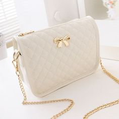 2017 New Fashion Women Synthetic Leather Casual Bow Shoulder Bag Cross Bag Handbag Small Handbags, Purses And Handbags, Chanel Handbags, Cheap Handbags, Luxury Handbags, Popular Handbags, Celine Handbags, Luxury Purses, Satchel Handbags
