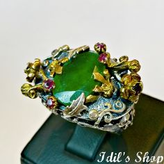 Authentic Turkish Ottoman Style Handmade 925 Sterling by IdilsShop, $105.00