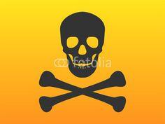 Crossbones und Piratensymbol