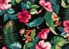 pattern, print, tropical,