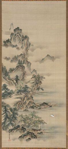 Second Visit to the Red Cliff-     Zengo sekiheki zu     前後赤壁図      Japanese, Edo period, mid-19th century     Kano Tan'en, Japanese, 1805–1853
