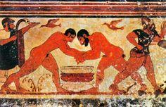Italy - Lazio - Tarquinia (Viterbo) Etruscans from Tomba degli Auguri