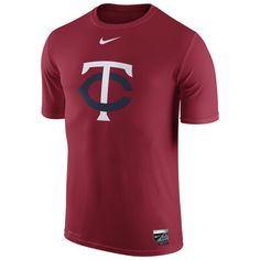 afb0e849088 Minnesota Twins Nike Authentic Collection Legend Logo 1.5 Performance T- Shirt - Red