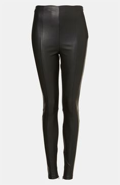 Topshop 'Gabriella' Stretch Faux Leather Pants available at #Nordstrom