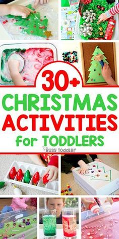 EASY TODDLER CHRISTMAS ACTIVITIES: Check out these awesome Christmas activities for toddlers; Christmas activities for preschoolers; easy toddler activities from Busy Toddler Christmas Activities For Toddlers, Holidays With Toddlers, Christmas Crafts For Kids, Simple Christmas, Holiday Crafts, Holiday Fun, Christmas Traditions Kids, Christmas Time, Christmas Gifts