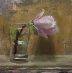 """Magnolia flower in a glass"" - Original Fine Art for Sale - © simon shawn andrews"