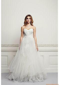Herz-ausschnitt Günstige Brautkleider 2014 aus Softnetz