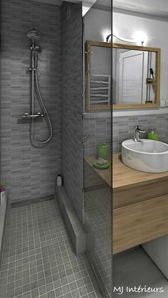 Parcourez les images de Salle de bain de style de style Moderne de Une douche à l'italienne a remplacé la baignoire. Inspirez-vous des plus belles photos pour créer votre maison de rêve.