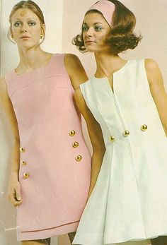 Easy Fashion Advice That Anyone Can Use – Fashion Trends Decades Fashion, 60s And 70s Fashion, Mod Fashion, Vintage Fashion, 60s Fashion Trends, Vestidos Vintage, Vintage Dresses, Vintage Outfits, Mode Outfits
