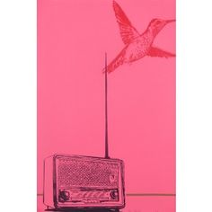 Pink bird art print - Available online at everythingbegins.com