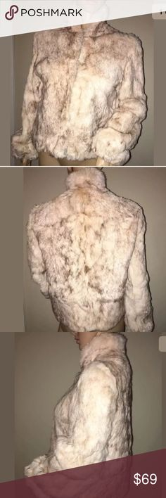 Selling this Vintage Neiman Marcus Cream Real Rabbit Fur Coat S on Poshmark! My username is: glossy_bitz. #shopmycloset #poshmark #fashion #shopping #style #forsale #Neiman Marcus #Jackets & Blazers