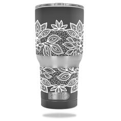 Floral Lace skin design for RTIC Tumbler 30oz