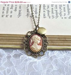 SALE Cameo Jewelry, Vintage Cameo Necklace, Victorian, Keepsake, Locket Necklace, Rose, Lace Pendant - Cameo Rose by laurenblythedesigns on Etsy https://www.etsy.com/listing/62095616/sale-cameo-jewelry-vintage-cameo