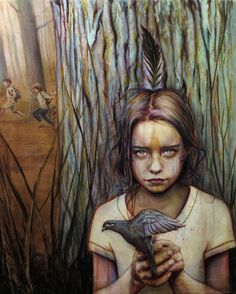 Wow,,,,moving image....Connecticut-based artist Michael Shapcott creates wonderfully colored portraits by starting with graphite underdrawings that are then painted with washes in oil and acrylic.