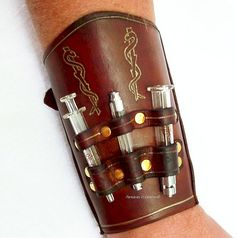Steampunk Medical Bracer ARM109 by Fantasies In Leather, via Flickr