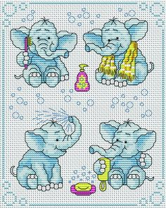 EMBROIDERY – CROSS-STITCH / BORDERIE / BORDUURWERK – ELEPHANT / OLIFANT                                                                                                                                                     More