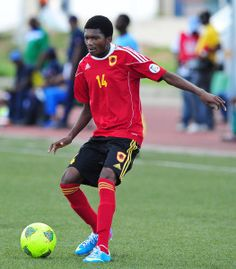 Herenilson do Carmo of Angola during the Cosafa u20 Youth Championship Group B game between Angola and Madagascar at Setsoto Stadium, Maseru in Lesotho on 4 December 2013 ©Ryan Wilkisky/BackpagePix