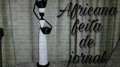 Diy - Africana feita de jornal