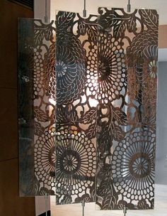 O'Hare & D'Jafer cut walnut and Plexiglas Walpole screen - The great divide - Home Accessories - How To Spend It