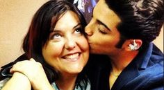 A pre-concert kiss! Gianluca smooching Barbara...IL VOLO road manager!