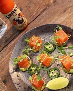 Gravlax de saumon à la Tequila et purée d'avocat à la Firebarns Original. Tequila, Cantaloupe, Fruit, Ajouter, Sauces, Food, Cilantro, Juice, Recipes