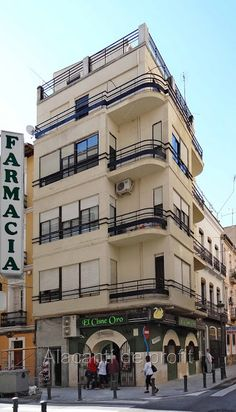 Alacantí de profit: Renovando y rehabilitando-  César Elguezábal 33 (1940 aprox)  esquina con la del Teatro