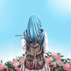 No photo description available. Arab Girls Hijab, Girl Hijab, Muslim Girls, Muslim Couples, Girl Hair Drawing, Hijab Drawing, Muslim Pictures, Muslim Images, Manga Girl