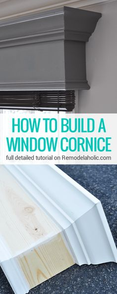Clock – Limited tools This DIY window cornice gives windows a MAJOR new look! Full detailed step-by-step photo tutorial on This DIY window cornice gives windows a MAJOR new look! Full detailed step-by-step photo tutorial on Home Projects, Diy Furniture, Home Decor Hacks, Home Improvement, Home Remodeling, Cheap Home Decor, New Homes, Diy Window, Window Cornices