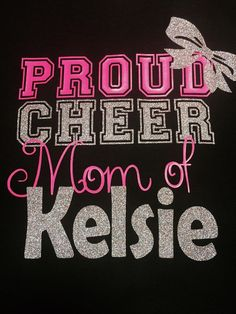 Proud Cheer Mom T-shirt by TableTopsandTiaras on Etsy or Aunt.