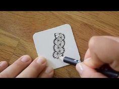Zentangle® Muster: Mak-rah-mee - YouTube