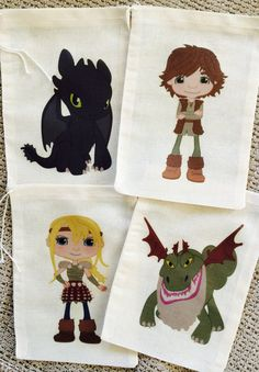 Train Your Dragon Favor Bags by SweetLilysConfection on Etsy, $18.00