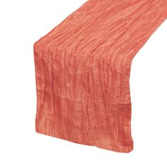 If you are styling a wedding, corporate party or any other special event that calls for exquisite designs and modern elegance, our Coral Crinkle Taffeta Table Runners will definitely fit the bill. Whe