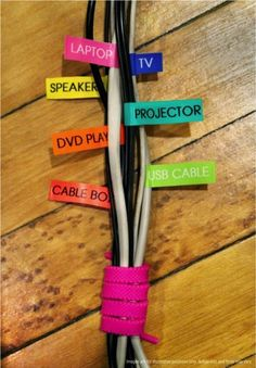 How to make a cord organizer | Recipe | Pinterest | Everyday dishes ...